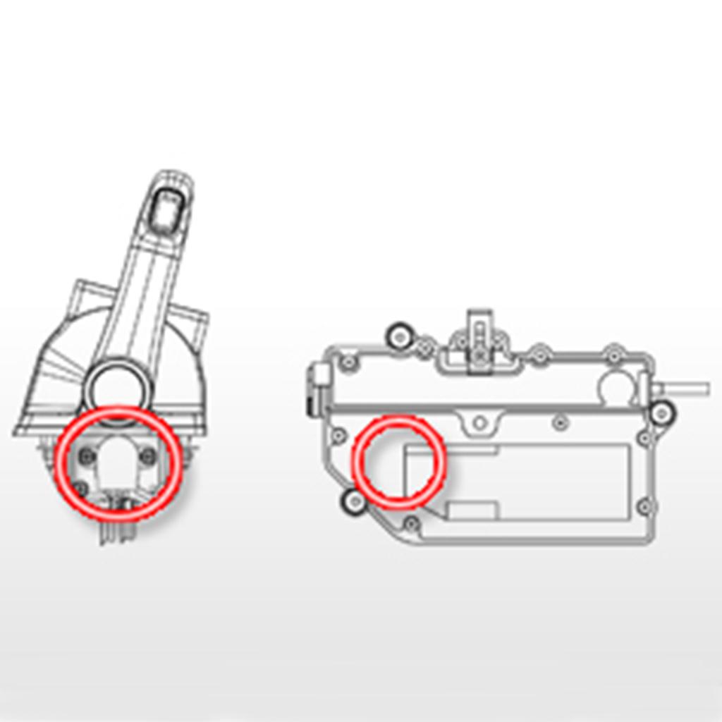 非接触型2出力センサーを採用